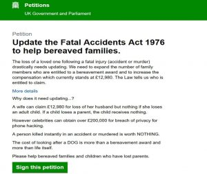 fatal-accident-act-petition-change-law